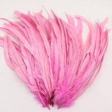 Розовый Петух перья хвоста 12-14 дюйм(ов)/30-35 см петух хвост перо
