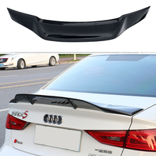 цена на For Audi A3 S3 Car Decoration 2014 2015 2016 Renntech Style Carbon Fiber Rear Trunk Spoiler