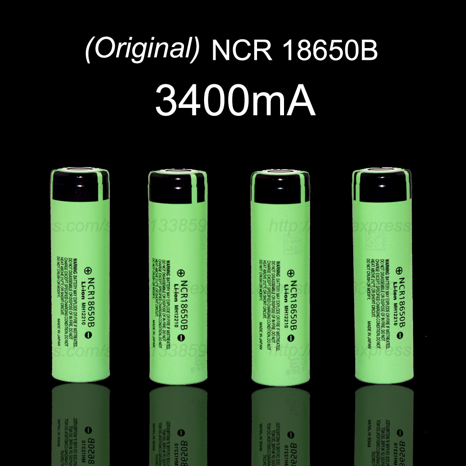 4 pcs lot 2016 new original ncr18650b 18650 li ion battery 3400 mah 3 7 v