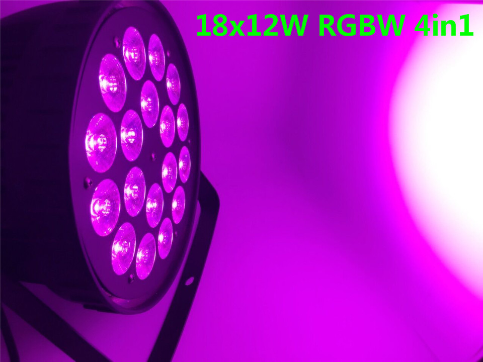 8pcs/lot 18x12W RGBW 4in1 Led Par Light DMX Stage Lights Business Lights Professional Flat Par Can for Party KTV Disco lamp 8pcs lot 18x12w rgbw 4in1 led par light dmx stage lights business lights professional flat par can for party ktv disco lamp