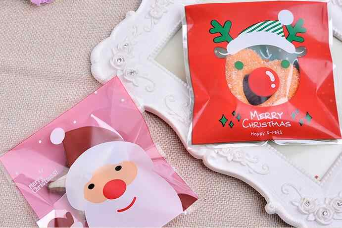 Hello Kitty Merry Christmas.100pc Merry Christmas Hello Kitty Plastic Bags Cookie Packaging Bag 10x10cm Self Adhesive Bags Free Shipping Usd100 For Dhl