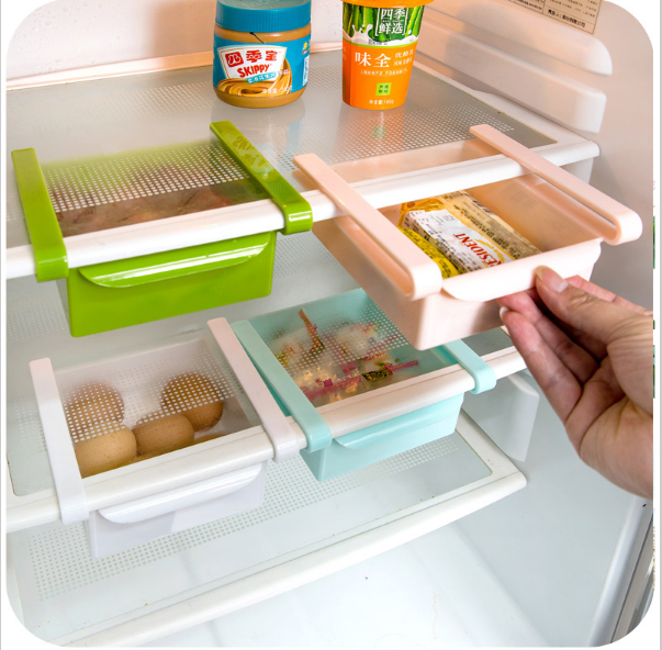 Fridge Organizer Refrigerator Freezer Storage Tray Kitchen Organizer Preservation Layer  ...