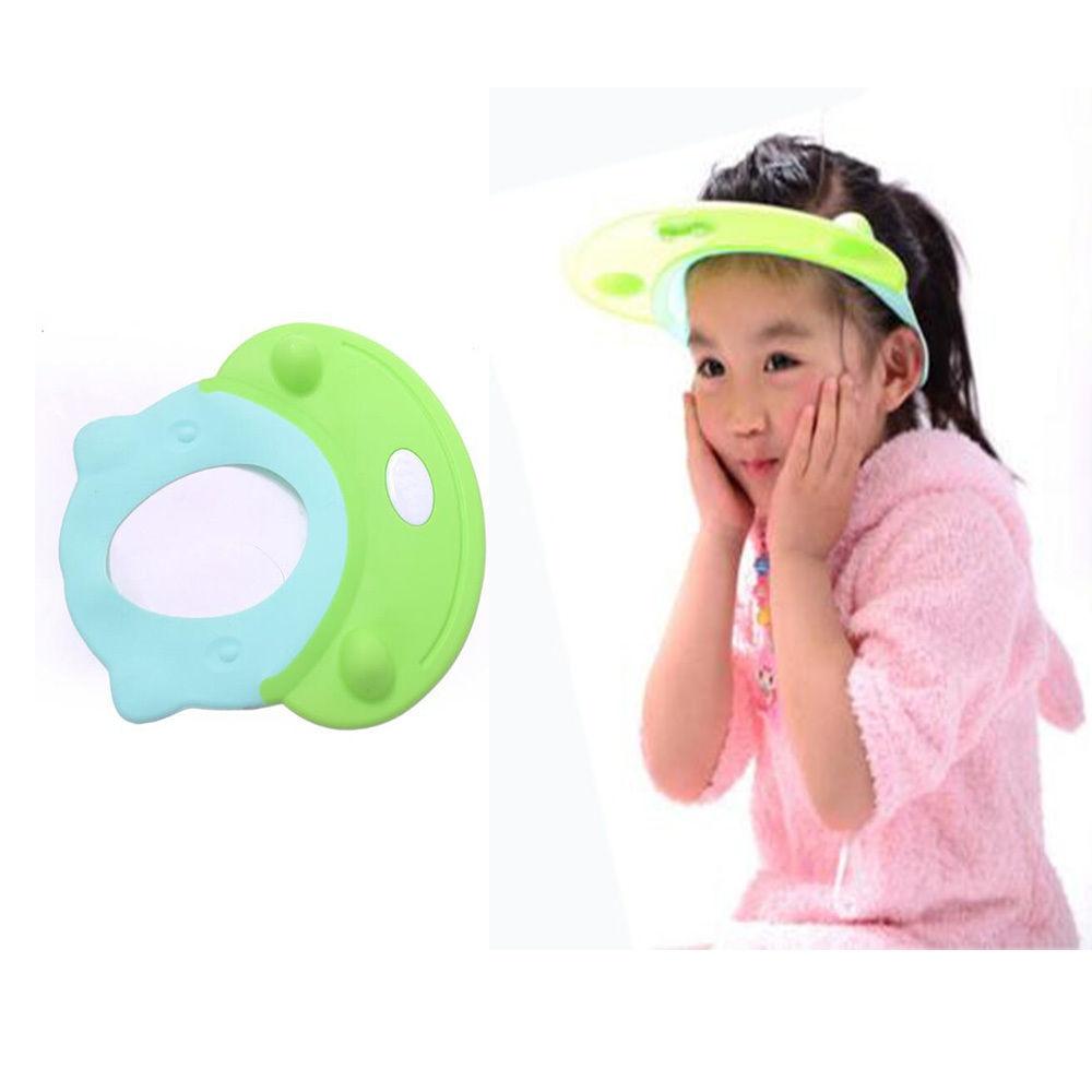 1PCs Երեխաների շամպունի բաղնիքի Անջրանցիկ վահանի գլխարկ գլխարկ Մանկական օգտակար մազերի գլխարկ