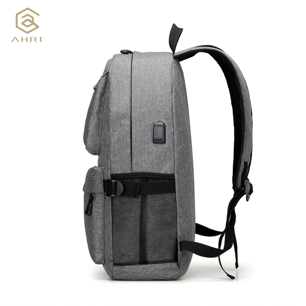 AHRI USB Unisex Design Backpack Book Bags for School Backpack Casual Rucksack Daypack Oxford Canvas Laptop Fashion Man Backpacks 2