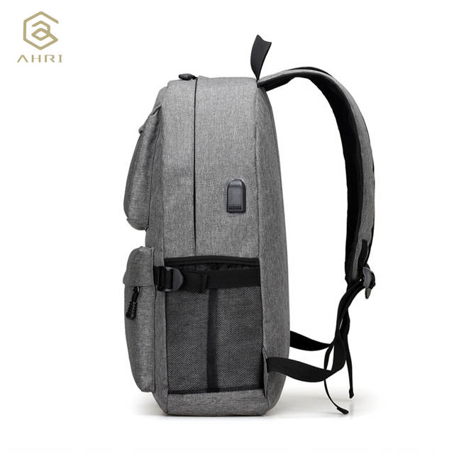 628baefc19d4 placeholder AHRI USB Unisex Design Backpack Book Bags for School Backpack  Casual Rucksack Daypack Oxford Canvas Laptop