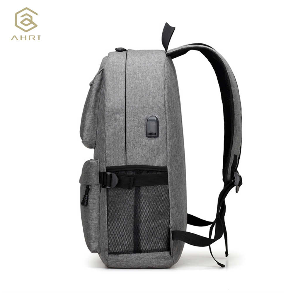 dc7077f64b0c ... AHRI USB унисекс дизайн рюкзак сумки для книг для школы рюкзак  повседневный рюкзак Оксфорд холст ноутбук ...