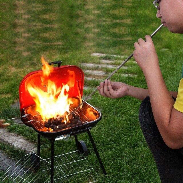 1 pz Pieghevole Campfire Fornello Da Strumento di Tasca A Soffietto All'aperto C