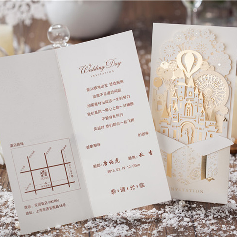 Wedding Invitations Laser Cutting Invitation Cards Bride and Groom ...