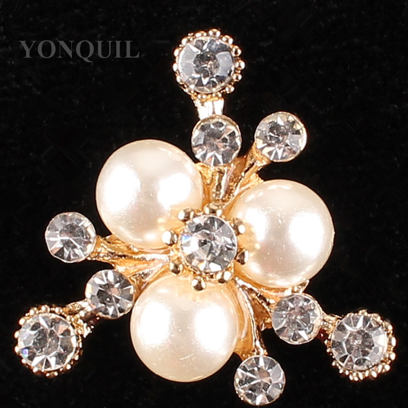 High Quality Crystal Brooch material Brooches Rhinestone Peals jewelry DIY accessories Wholesale Decoration 15pcs/lot SYBB112