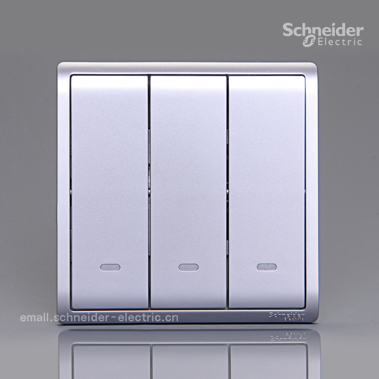 Schneider Electric Feng Shang silver three opening triple single ...