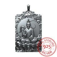 925 Серебряный лорд Лао цзы Taishanglaojun кулон тег китайский оригинальный ожерелье лорд Лао цзы