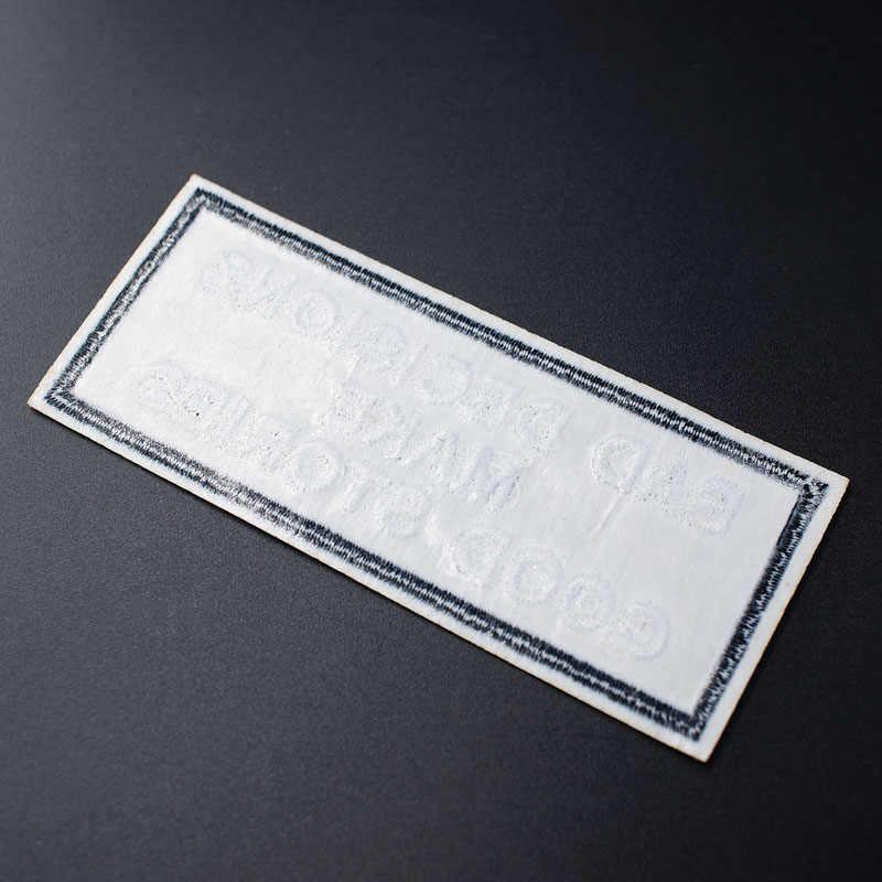 MALE... 4.3x10cm Patch di Cucito On Ricamato Applique per la Giacca Distintivo Vestiti Adesivi