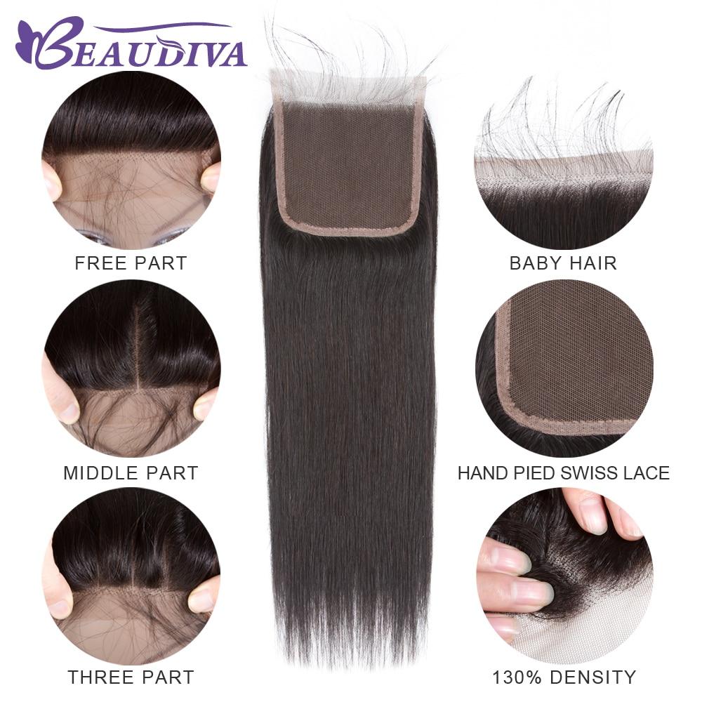 Beaudiva Rambut Pra-warna 100% Remy Rambut Manusia Bundel Dengan - Pasokan kecantikan - Foto 3
