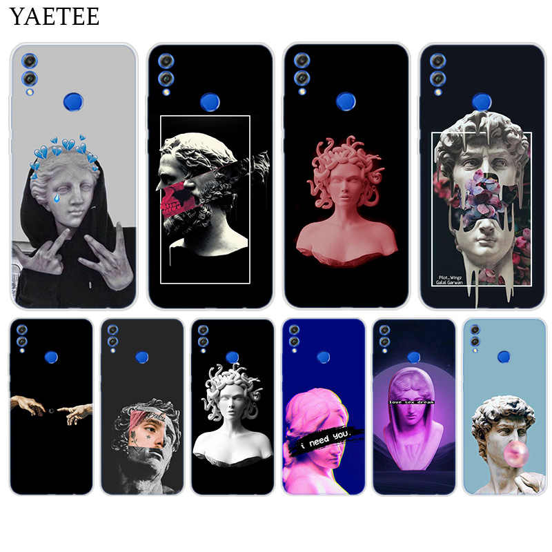 Silicone Hull Case For Huawei Y7 Y6 Y5 Prime Pro Y9 2019 2018 Honor 8X 8C Play 9 10 lite View 20 V20 Cover Medusa Vaporwave Art