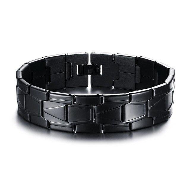 Mprainbow Mens Bracelets Trendy Stainless Steel Metal Classic Link
