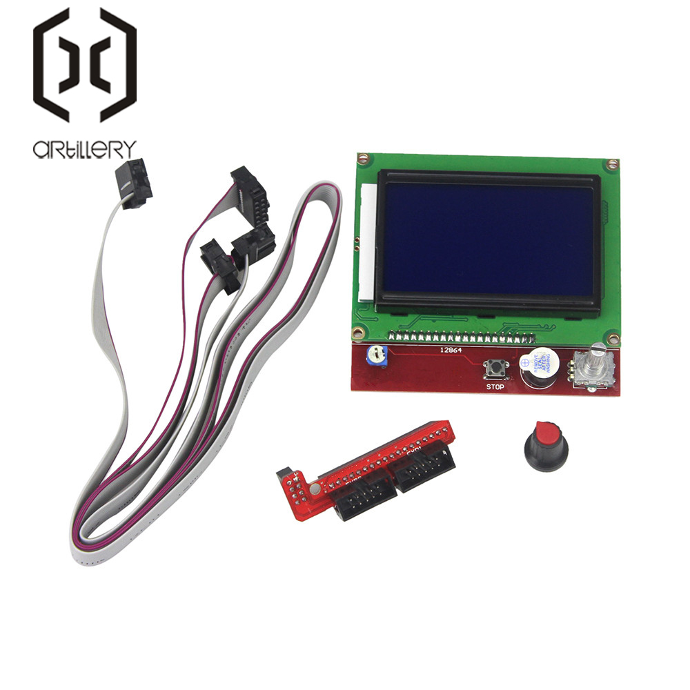 12864 Display LCD 3D Printer Controller Adapter For RAMPS 1.4 Reprap Mendel