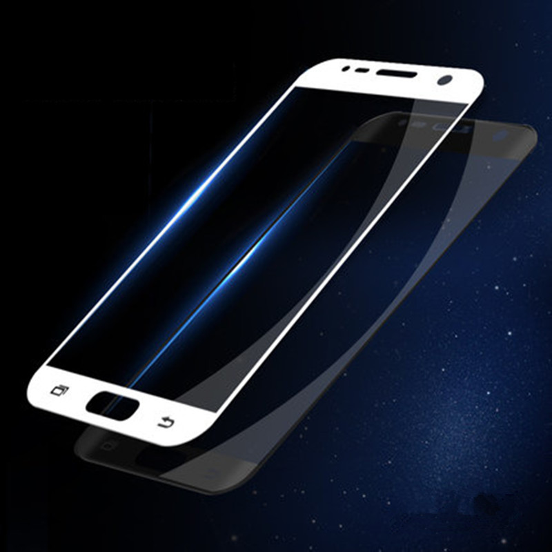 Full Screen Cover Verre Tempered Glass Film for Samsung Galaxy S7 Note 5 4 A3 A5 A7 2016 2017 A9 C5 C7 C9 Pro Cover GlassSticker