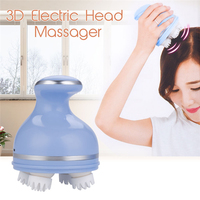 Multifunction Silicone 4 Head Massager Electric 3D Roller Kneading Scalp USB Rechargeable Massage Machine Relax Relieve Headache