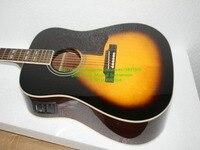 special popular Acoustic electric guitar free shipping vintage sunburst color rosewood fretboard