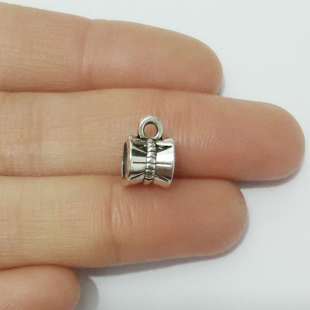 Tibet Silber Gold Bail Anhänger Charme Halskette Europäischen Perlen