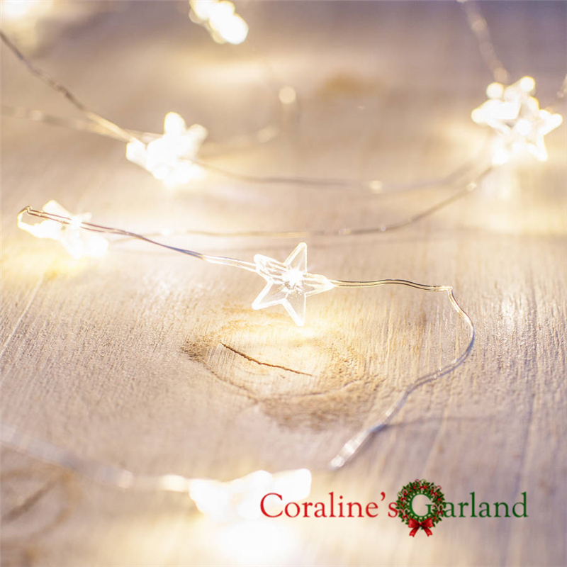 50 светодиодный 5 м Star микро-провода огни строки 3 аа на батарейках гирляндой для фестиваля праздник вечерние свадебные украшения
