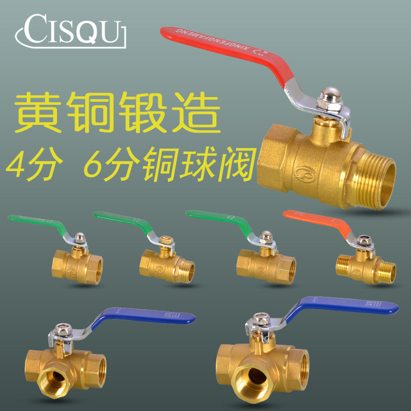 1 PC Copper Ball Valve DN15 DN20 1/2 3/4 Inch Male Female 3 Way Ball Valve Pipe Fitting Plumbing Hardware 80x2mm copper end feed euqal tee 3 way pipe fitting plumbing for gas water oil
