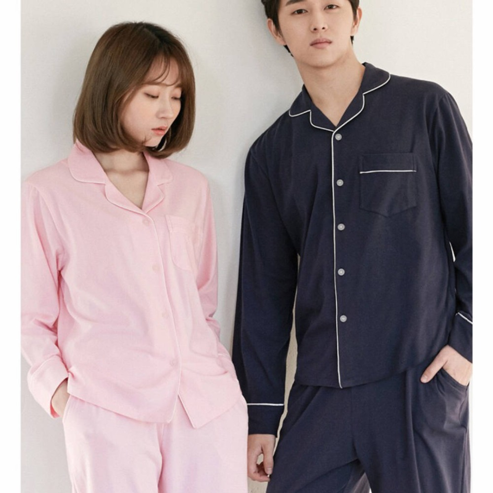 Detail Feedback Questions about New Arrivals Lovers Pajamas Long Sleeved  Cotton Pure white pink blue Female Men Age Season Winter Leisure Wear Suits  on ... cfafeac36