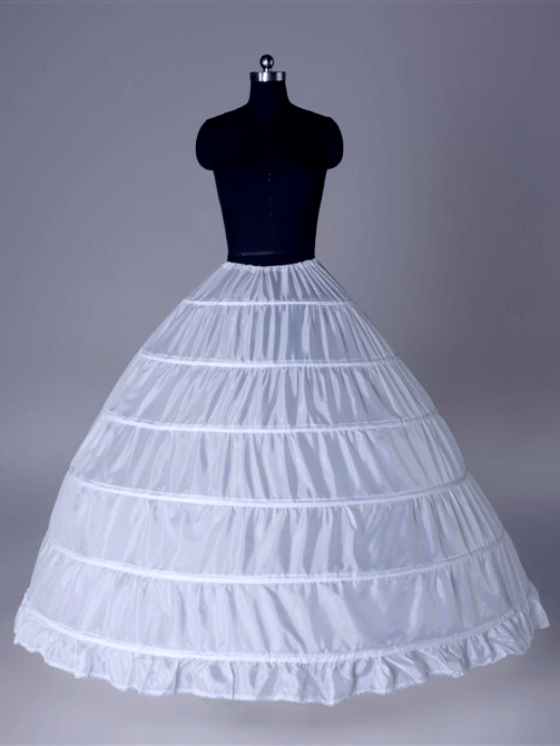 6 Ring Witte Petticoat Jupon Femme Trouwjurk Vrouwen Accessoires Enaguas Para Vestidos Mujer In Voorraad Puur Wit En Doorschijnend