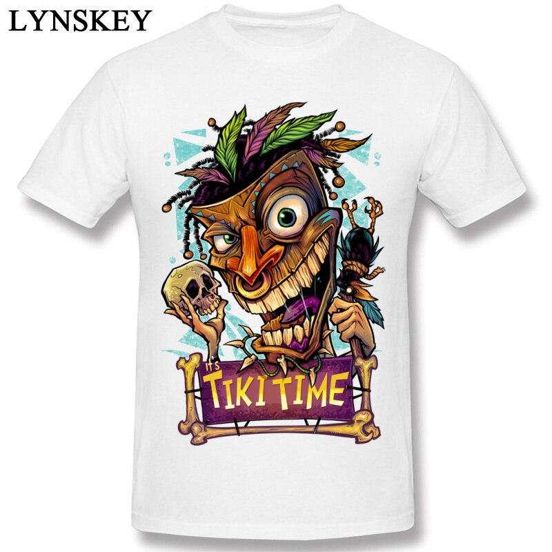52dba061270 Tiki Time Mens Tshirt Monster Skull 2018 Men s Brand New Hip Hop Fashion T- Shirts