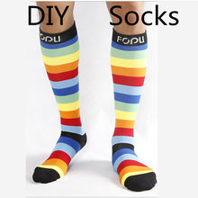 High Quality Fashion Custom 3D Print Dog DIY Custom Design Men/Women Unisex Long Socks design Personality Sock Drop Shipping