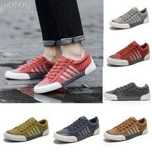 WHOSONG Men Sneakers 2019 Men Canvas Shoes Fashion Solid Color  Comfortable Men Vulcanized Shoes Lace-up red Casual Shoes m373 цена в Москве и Питере