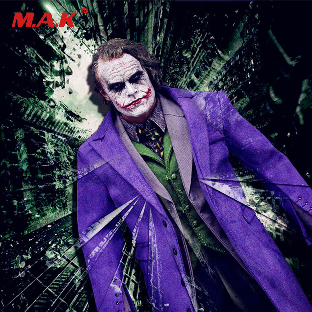 цены New style 1/6 Joker action figure toys The Dark Knig Batman Villain Purple F DX01 DX11 Batman Action Figure Toys no head & body
