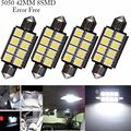 4X Car Styling 42mm C5W C10W 12V White Canbus Error Free Car Led Festoon Light COB 8 Chips Auto LED Map Dome Interior Lights