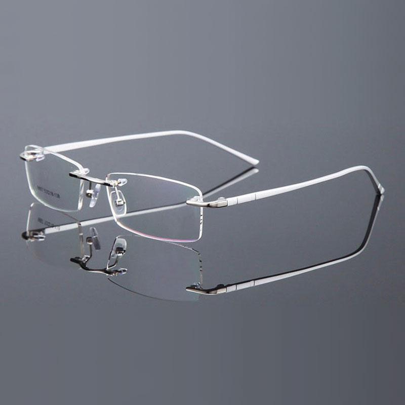 Reven Jate Randlose Brillen Legierung Metallrahmen Brillen Optische - Bekleidungszubehör - Foto 5