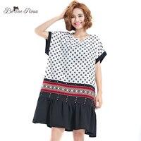 BelineRosa 2017 Casual Summer Dress Women S Fashion Korean Style Sleeve Fold Hem Mini Dress Female