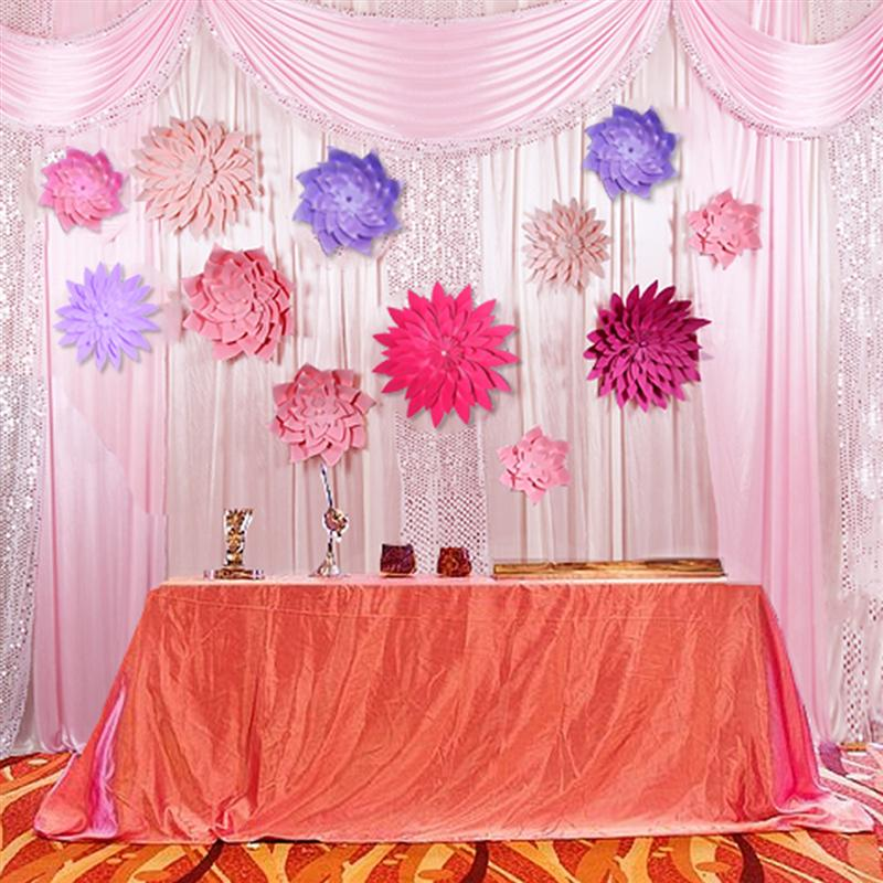 40cm 3d Paper Flower Wall Decor Artificial Paper Crafts For Party