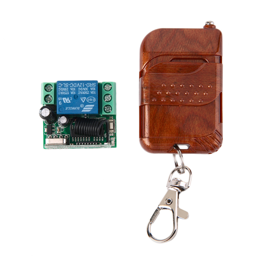 1pc DC 12v 10A relay 1CH wireless RF Remote Control Switch Transmitter Receiver 433MHz