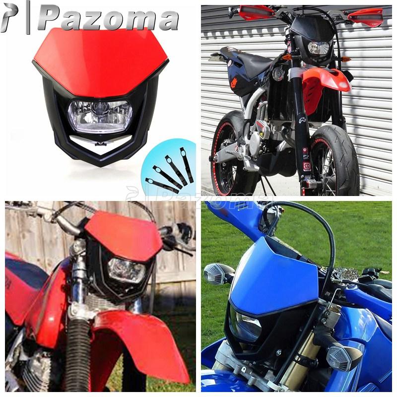 Motocross Off Road Universal Headlights Headlamp Dirt Bike Supermoto Motorcycle Headlamp For Honda Crf on Honda Xr 250