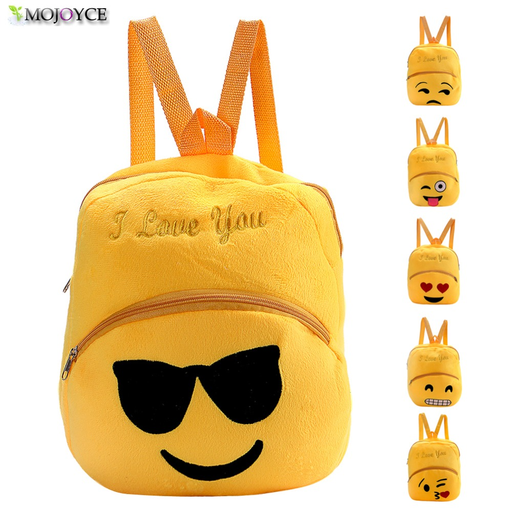 Healthy Material Fashion Smile Emoji Face School Bag Baby Snack Food Storage Box Portable Plus Toy Bag Bring Fun Free Shipping