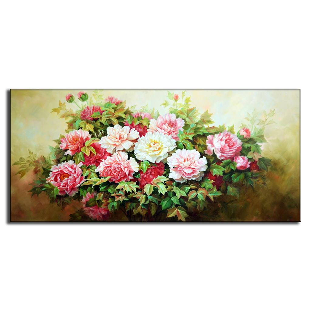 Classic Still Life Oil Art Flowers Canvas Painting 1 Pcs