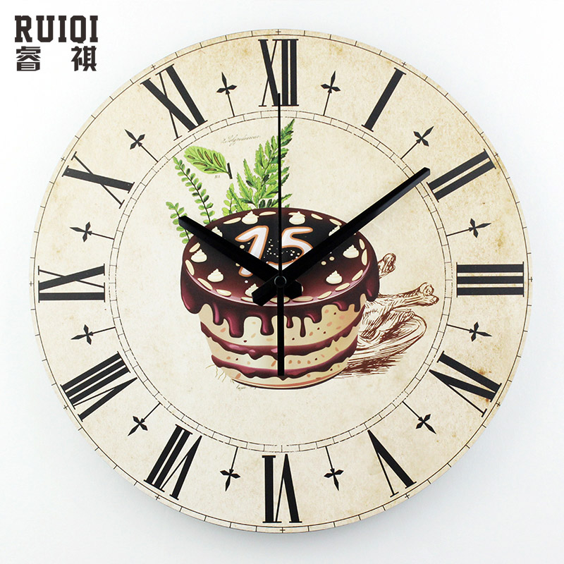 Kitchen Decorative Wall Clock Roman Numerals Large Size