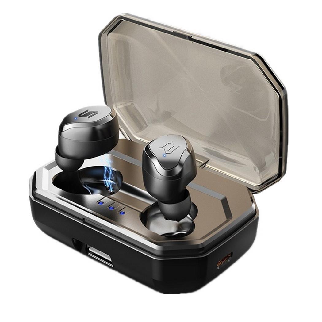 Écouteurs sans fil Bluetooth Mini écouteurs intra-auriculaires écouteurs stéréo de téléphone réduction du bruit écouteurs Audio de musique avec boîte de charge