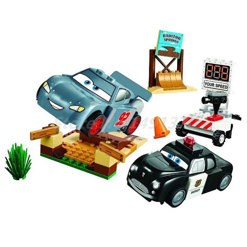 BELA 10685 Pixar Cars 3 Lightning Juniors Smokey's Garage 10742 Building Blocks Model Sets Bricks Toys Kids Christmas Gifts