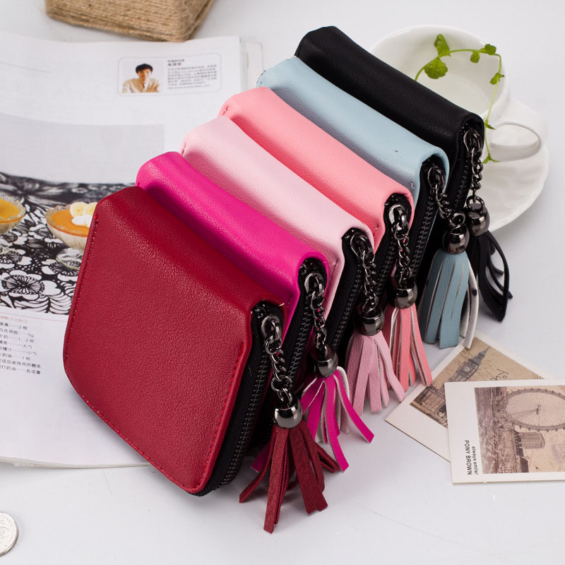 Women Wallets Leather Purse Tassel Zipper Wallet PU Credit Card Holder Girls Coin Purses Clutch replacement projector lamp for benq mp612 mp612c mp622 mp622c projectors