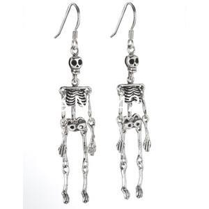 10pairs/lot skeleton earrings, Anatomy Science Zombie Geekery Grey Matter Jewelry