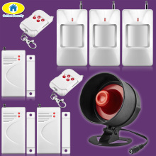 Golden Security 110dB Volume Adjustable Siren font b Alarm b font System Security Door Sensors PIR