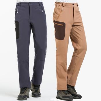 NUONEKO 2020 nowych mężczyzna z polaru spodnie Softshell Camping spodnie do wędrówek pieszych na zewnątrz spodnie sportowe Trekking narciarskie wodoodporne Pantolon PM22 tanie i dobre opinie na zamek błyskawiczny POLIESTER Pełna długość Camping i piesze wycieczki Dobrze pasuje do rozmiaru wybierz swój normalny rozmiar