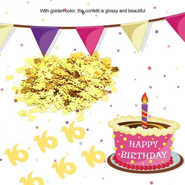 Sparkling Happy Birthday Anniversary Confetti Number 30 40 50 60 Years Adult Party Tabletop Table