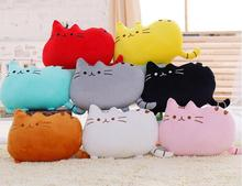 Soft Cute Cat Throw Pillow Stuffed Plush Doll Toy Gift Back Cushion Sofa Car Home Decoration Textile