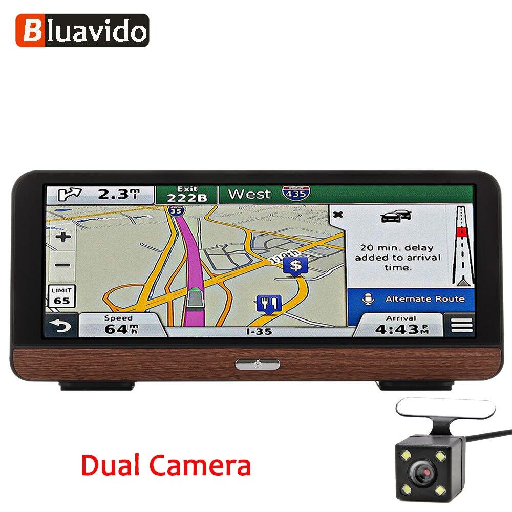 Bluavido 8 дюймов 4 г Android gps навигации регистраторы ADAS Full HD 1080 P Автомобильный dvr камера Авто Видео регистраторы Bluetooth Wi Fi мониторы